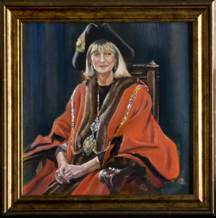<p><em><strong>The Mayor &nbsp;</strong></em>Oil on Board 30cms x 30cms SOLD</p>